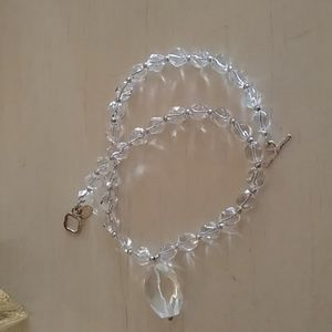 Jewelry - Crystal Sterling silver necklace Israel